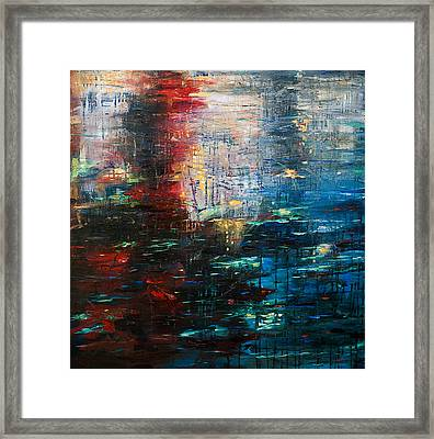 Reflections Cityscape Framed Print