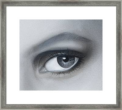 Reflections Eye Framed Print by Joshua South