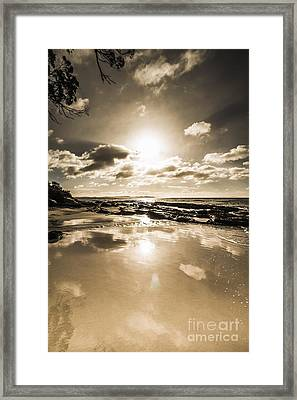Reflections From Adventure Bay Framed Print by Jorgo Photography - Wall Art Gallery