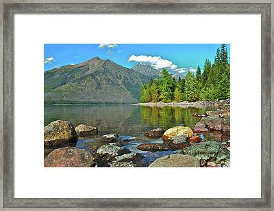 Reflections Glacier National Park  Framed Print by Michael Peychich