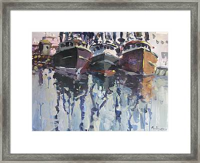 Framed Print featuring the painting Reflections II by Robert Joyner