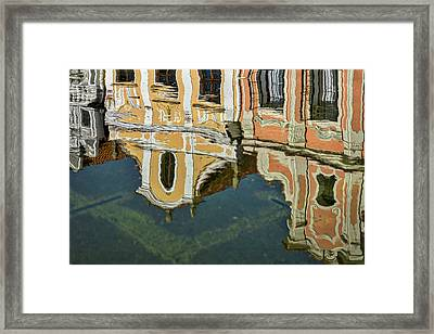 Framed Print featuring the photograph Reflections In A Czech Fountain by Stuart Litoff