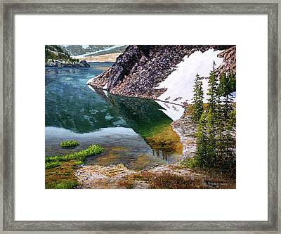 Reflections In Ellery Framed Print by Donald Neff