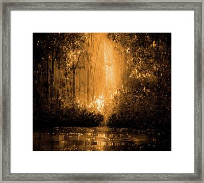 Reflections In Flame Framed Print by Ann Marie Bone