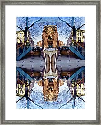Reflections In Frederick, Maryland Framed Print