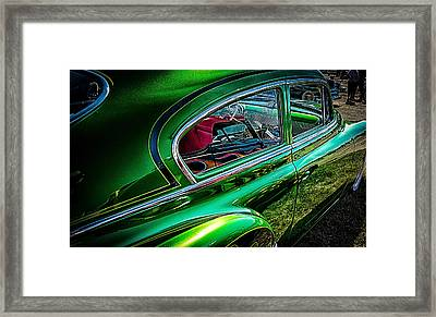 Reflections In Green Framed Print
