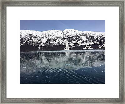 Reflections In Icy Point Alaska Framed Print