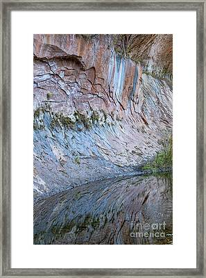 Framed Print featuring the photograph Reflections In Oak Creek Canyon by Sandra Bronstein