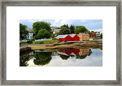 Reflections In Rorvik Framed Print
