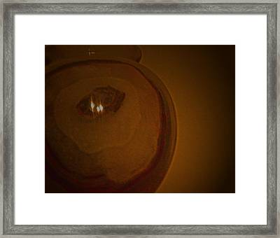 Reflections In Stone Framed Print by Lenore Senior