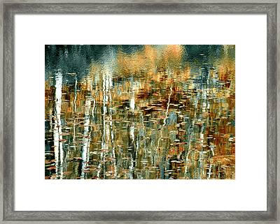 Framed Print featuring the photograph Reflections In Teal by Ann Bridges