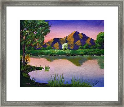 Reflections In The Breeze Framed Print