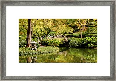 Framed Print featuring the photograph Reflections In The Japanese Garden by Iris Greenwell