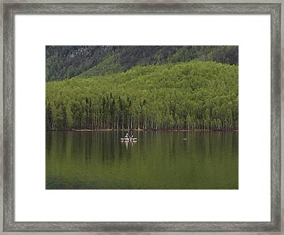 Reflections In The Lake Framed Print