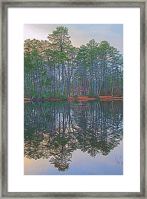 Reflections In The Pines Framed Print by Beth Sawickie