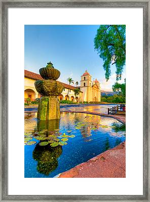 Reflections In The Pond Framed Print