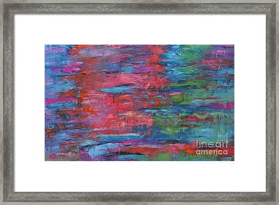 Reflections In Time Framed Print by Linda Mooney