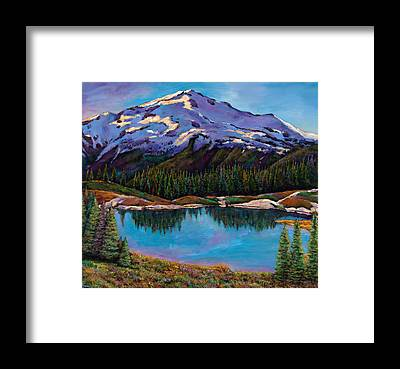 Snow Capped Mountains Framed Prints
