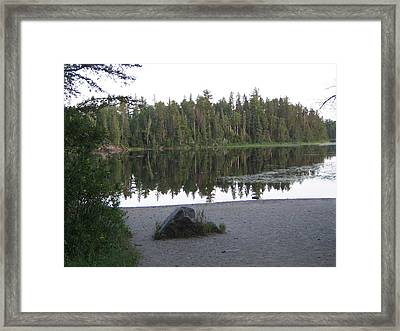 Reflections Lake 1 Framed Print by Barbara Yearty