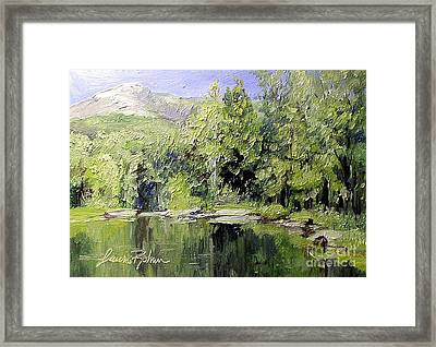 Framed Print featuring the painting Reflections by Laurie Rohner