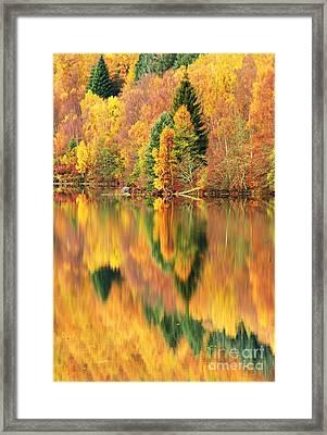 Reflections Loch Tummel Scotland Framed Print by George Hodlin