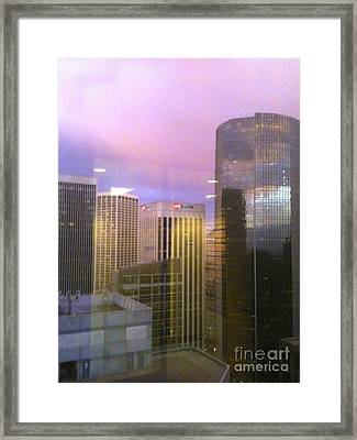 Reflections Looking East Framed Print