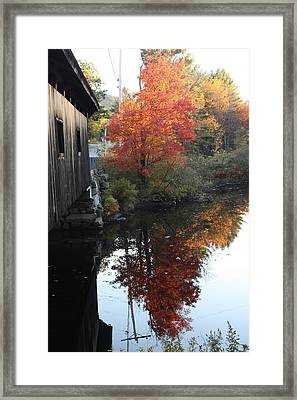 Reflections New Hampshire Framed Print by Sue Mayor