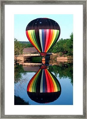 Reflections Of A Balloonist Framed Print by Jim DeLillo