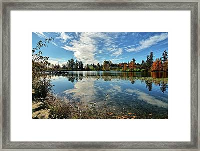 Reflections Of A Day Gone By Framed Print