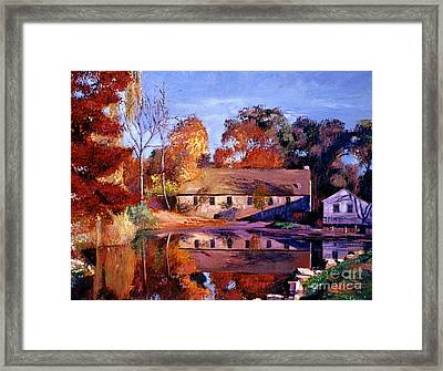 Reflections Of A Millhouse Framed Print by David Lloyd Glover