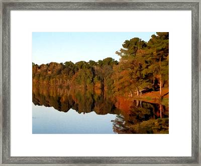 Reflections Of A Pennsylvania Autumn Framed Print by David Dehner