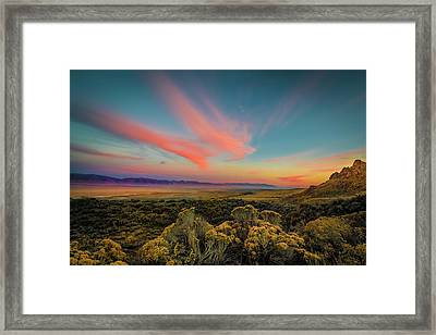 Reflections Of A Sunset Unseen Framed Print