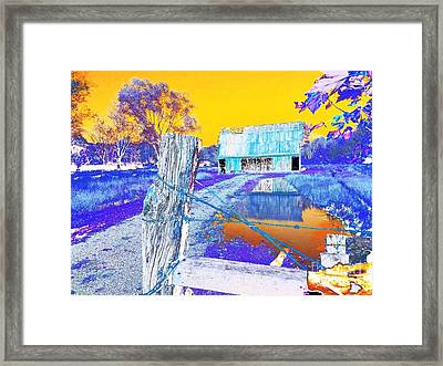 Reflections Of An Old Barn Abstract Framed Print