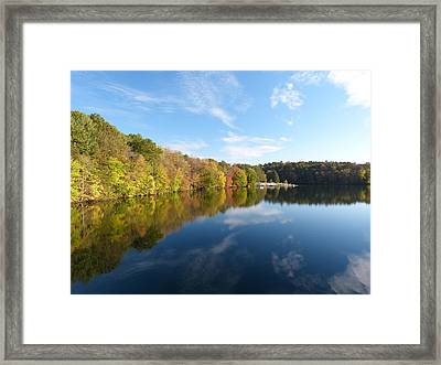 Reflections Of Autumn Framed Print by Donald C Morgan