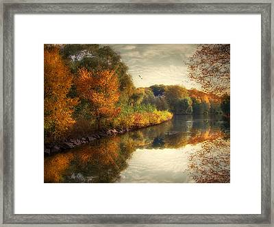 Reflections Of Autumn Framed Print by Jessica Jenney