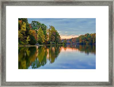 Reflections Of Autumn Framed Print