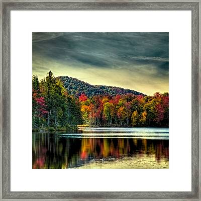 Reflections Of Autumn On West Lake Framed Print by David Patterson