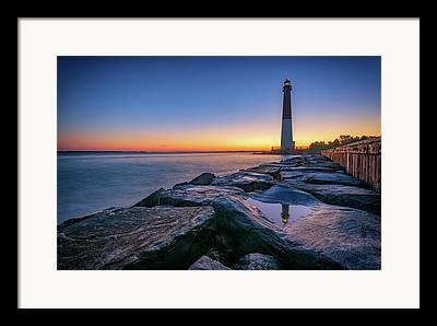 Lighthouse At Sunrise Framed Prints