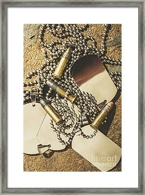 Framed Print featuring the photograph Reflections Of Battle by Jorgo Photography - Wall Art Gallery