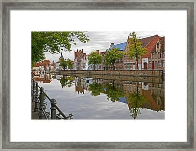Reflections Of Brugge Framed Print