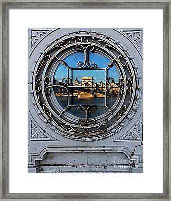 Reflections Of Budapest Framed Print