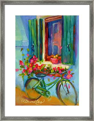 Reflections Of Burano Framed Print by Chris Brandley