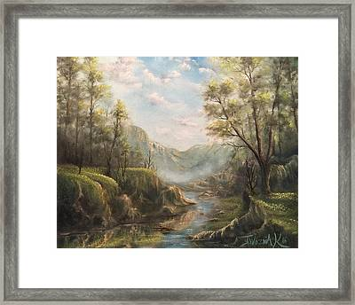 Reflections Of Calm  Framed Print