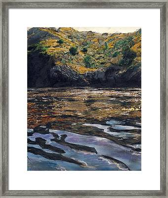 Reflections Of Catalina Framed Print by Randy Sprout