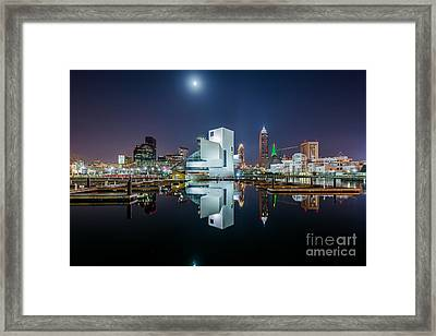 Reflections Of Cleveland  Framed Print by Frank Cramer