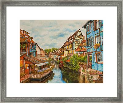 Reflections Of Colmar Framed Print by Charlotte Blanchard
