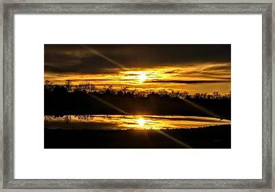 Reflections Of Eternal Horizons Framed Print