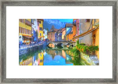 Reflections Of Eze Framed Print