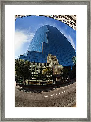 Reflections Of Fort Worth Framed Print