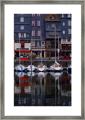 Reflections Of France Framed Print by Nancy Bradley